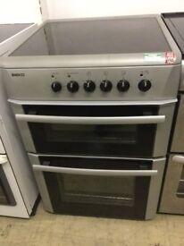 Beko Silver Electric Cooker 60cm wide