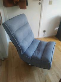 Folding adjustable sofa chair gray