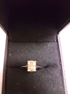 Mark lash 1 carat natural fancy yellow diamond platinum ring
