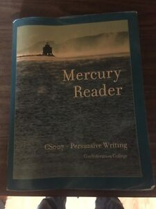Mercury reader Csoo7 - persuasive writing