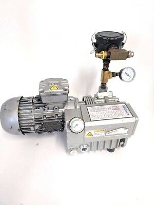 Airtec L12-g1 Oil Lubricated Rotary Vane Pump 7 Cfm 2 Torr Vacuum Pump
