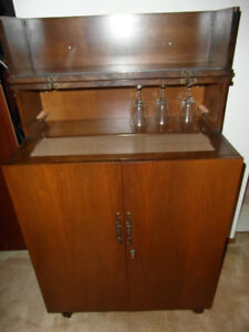 Teak Liquor Cabinet with serving top