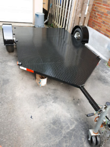 Trailer flat motorcycle