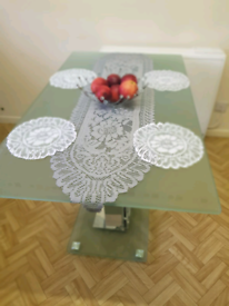 DINING TABLE! FROSTED GLASS! FOR SALE!