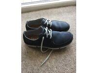 Men's casual shoes - Clark's - Blue Leather - Size 10