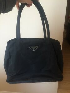 Authentic Black fabric Prada purse