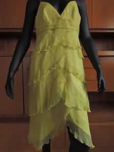 Shelli Segal, designer layered chiffon and silk dress. London Ontario image 2