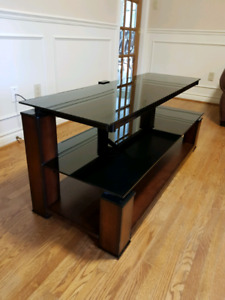 TV Stand - 2 Tier Glass