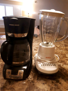Coffee maker and Blender