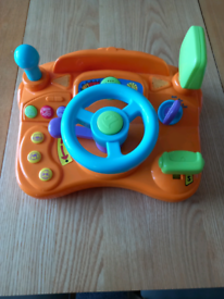 Baby driver steering wheel with sounds