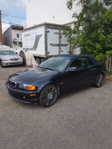 2001 BMW 330ic-325ic- décapotable-blue/noir.