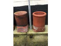 "12"" roll top chimney pots"