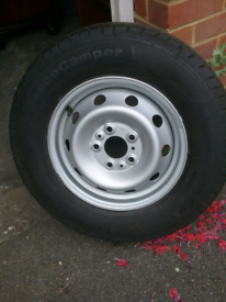 Motor home tyre and metal wheel (both brand new)