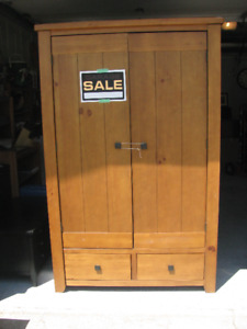 """WARDROBE  CLOSET CABINET WITH TWO DRAWERS   77"""" TALL"""