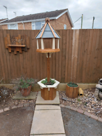 Large Victorian style Bird Table with planter