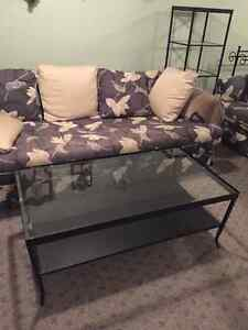 NEW BLACK WOUGHT IRON COFFEE TABLE AND END TABLES Regina Regina Area image 2