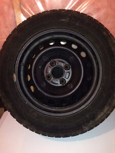 One year used Winter tires(All 4 tires-Goodyear) Kitchener / Waterloo Kitchener Area image 1
