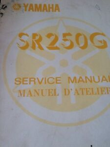 80 81 82 82 Yamaha SR250 Service and Supplement Manuals Regina Regina Area image 1