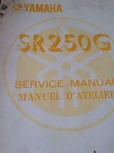 80 81 82 82 Yamaha SR250 Service and Supplement Manuals