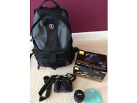 Nikon d5300 18-55 VR 11 lense with Tamarac bag