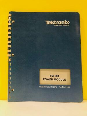 Tek 070-1716-01 Tm 504 Power Module Instruction Manual