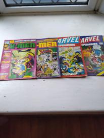 Marvel & X-Men comics 1980 X5.