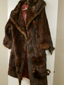 Real fur and leather coats