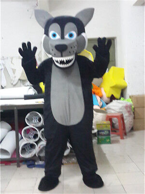 Halloween Black Husky Wolf Mascot Costume Suits Animal Party Dog Cosplay - Dog Halloween Costumes Wolf