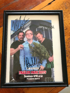 Signed Trailer Park Boys Picture with Frame