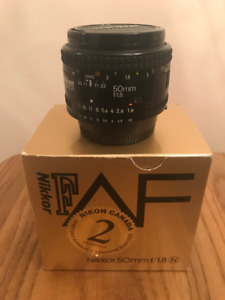 50mm 1.8 Nikkor AF lens (For Nikon)