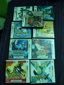 Selling my collection of Pokemon Games
