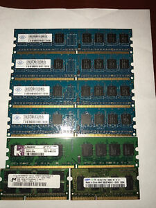~Excellent condition~ Laptop desktop memory sticks DDR2 DDR3 bbb