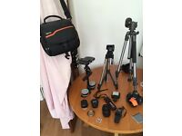 Full canon eos 600D camera kit for film and photography