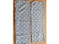Next 2xs blue spotted pillow cases