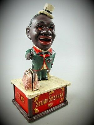 Spardose Mechan. STUMP SPEAKER Weihnachten Geschenk Vintage Deko Spielzeug weiß