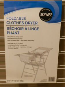 Foldable clothes dryer, new, $15.00 FIRM. non slip plastic feet