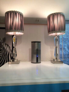 Lead Crystal Grey Bling Lamps