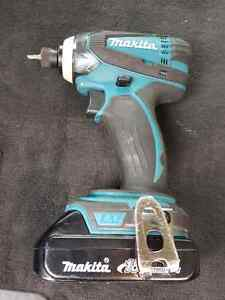 Makita Impact Driver 18V Cordless with battery