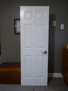 1 of 2 Interior Bathroom 6 panel door with all hardware