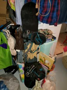 Full snowboard setup