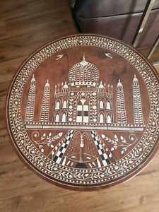 Antique Indian elephant side table