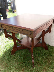 antique square parlour table eastlake style REDUCED Oakville / Halton Region Toronto (GTA) image 1