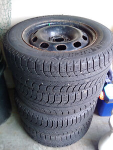 15in Michelin winter tires with rim (set of 4)
