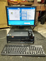"""IBM P4 computer with 17"""" lcd screen"""