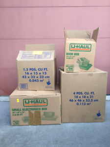 Moving? Various sized packing boxes for pickup
