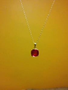 Red Garnet Stone Youth Necklace- 10K