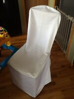 White Satin Chair Covers For Sale