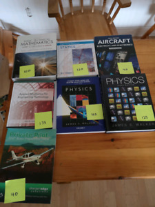 First and Second year Sault College aviation textbooks