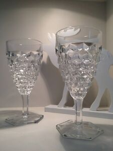 Fostoria American Crystal Water Goblets, Wedding Wine Glass