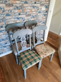 solid antique pine chairs